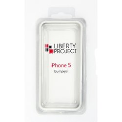 чехол для apple iphone 5, 5s, se liberty project bumpers (бело-черный)