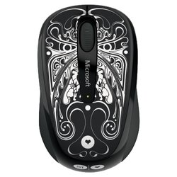 microsoft wireless mouse 3500 artist edition si scott usb (черный-белый)
