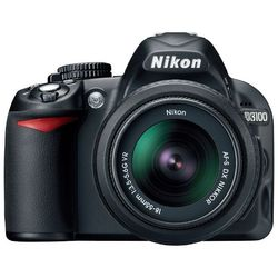 ��������� nikon d3100 kit (black 14.2mpix 18-55ii (��� vr) / 55-200vr 3 720p sd li-ion, ����� � �����������)