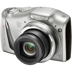 canon powershot sx150 is (silver 14.1mpix zoom12x 3 720p sdxc mmc ccd 1x2.3 is opt 1minf 30fr/s aa)