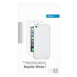 ���� ����� ��� iphone 5 / 5s reptile white deppa (�����) + �������� ������