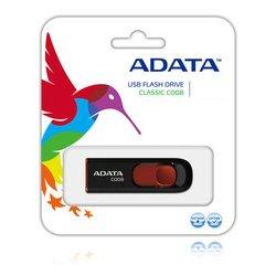 USB флеш диск ADATA C008 64GB (черно-красный)
