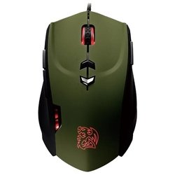 tt esports by thermaltake theron gaming mouse black-green usb (черный/зеленый)