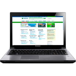 "ноутбук lenovo v580 59-365877 (intel i5-3230, 8gb, 1000, dvd-sm dl, 15.6"" hd, 1gb gt610m, camera, wi-fi, bt, dos) (серый)"