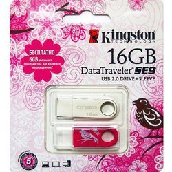 "���� kingston datatraveler se9 16gb ""8 �����"""