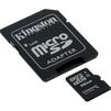 Kingston SDC4/16GB microSDHC 16GB + SD адаптер - Карты памятиКарты памяти<br>Карта памяти MicroSDHC 16GB Kingston SDC4 16GB - огромная емкость для хранения различного рода файлов на телефоне или другом совместимом устройстве В комплекте идет адаптер на SD, что позволит использовать карту памяти в фотоаппаратах и других девайсах<br>