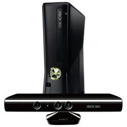 Microsoft Xbox 360 Slim 4Gb + ������ �������� Kinect + ���� Kinect Adventures (S4G-00014)
