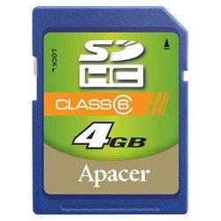 Apacer SDHC 4Gb class 6 (AP4GSDHC6-R)