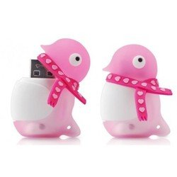 bone collection valentine penguin driver 8gb dr07021-8bk (розовый с розовым шарфом)