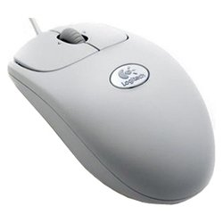 logitech rx250 optical mouse usb+ps/2 oem (светло-серый)