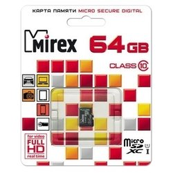 Mirex microSDXC Class 10 UHS-I U1 64GB + SD adapter