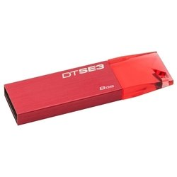 kingston datatraveler dtse3r 8gb (красный)