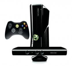 Microsoft Xbox 360 4Gb + ������ �������� Kinect + ���� Kinect Adventures � Dance Central 2