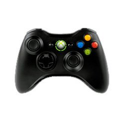 microsoft xbox 360 wireless controller (черный)