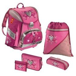 Ранец школьный Pink Romance TOUCH Step by Step (розовый) с аксессуарами