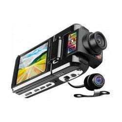Subini DVR-P9 - 2 Камеры (черный с камерой заднего вида)