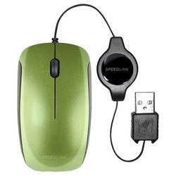 speedlink minnit mobile mouse flexcable green usb