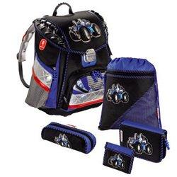 Рюкзак школьный Tractor Step by Step TOUCH L.E.D. (черный/синий) с аксессуарами