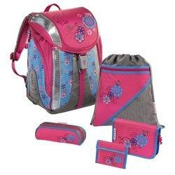 Ранец школьный Floral Dream Flexline Step by Step (розовый/серый) с аксессуарами