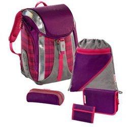 Ранец школьный Dahlia Checked Flexline Step by Step (сиреневый/розовый) с аксессуарами