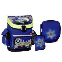 Ранец школьный City Police Active Lego (синий) с аксессуарами