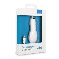Автомобильное зарядное устройство Lightning для Apple iPhone 5, 5C, 5S, 6, 6 plus, iPad 4, Air, Air 2, mini 1, mini 2, mini 3 (Deppa) (белый)