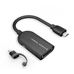 MHL адаптер для смартфонов micro USB-HDMI Deppa (microUSB-HDMI) + Адаптер Samsung Galaxy S3/S4/Note (5pin-11 pin)