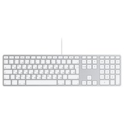 Apple MB110RS/B Wired Keyboard White USB (�����)