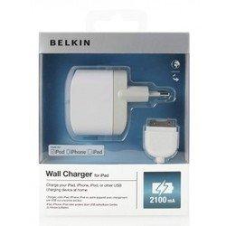 Зарядное устройство Belkin F8Z630CW04 2,1A + Apple 30-pin cable (белый)
