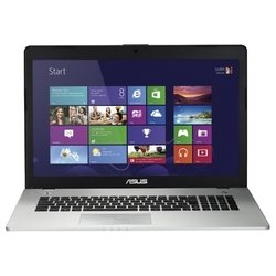 "ноутбук asus n76vj (core i3 3110m 2400 mhz,17.3"", 1920x1080, 4096mb, 500gb, dvd-rw, nvidia geforce gt 635m, wi-fi, bluetooth, dos) серебристый"
