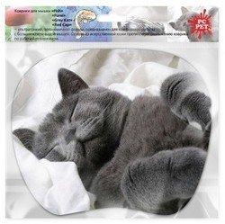 Коврик для мыши TURBO (PC PET MP-TOM) (серый кот)