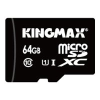 kingmax micro sdxc card class 10 uhs-i u1 64gb + sd adapter