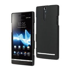 Чехол для Sony Xperia S LT26i (Muvit SEBKC0028 Soft Back) (черный)