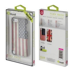 ����� ��� apple ipod touch 5 (muvit mucmp0037) (old  flag cover) + �������� ������