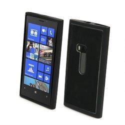 Чехол для Nokia Lumia 920 (Muvit MUBMC0024 Bimat) (черный) + защитная пленка