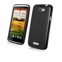 чехол для htc one x, one xl (muvit muski0062 minigel) (черный)
