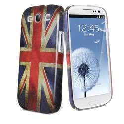 чехол для samsung galaxy s3 i9300 (muvit mubkc0468 old flag cover uk) + защитная пленка