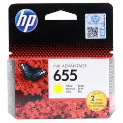 картридж для hp deskjet ink advantage 3525, 4615, 4625, 5525, 6525 e-all-in-one (cz112ae №655) (желтый)