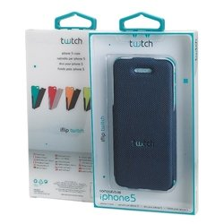 чехол для apple iphone 5 (twitch mutwiip501 iflip case) (синий)