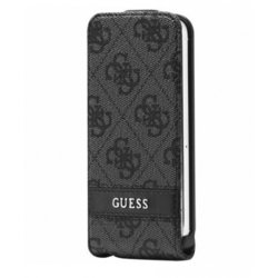 чехол для apple iphone 5 (guess guflp54gg flip case) (серый)