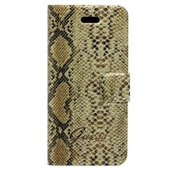 чехол для apple iphone 5 (guess guflhp5sg slim case reptile) (песочный)