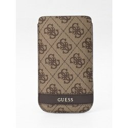 чехол для apple iphone 5 (guess gupos34gb pouch case) (коричневый)