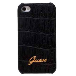 чехол для apple iphone 5 (guess gup5cmbl hard case croco matte) (черный)