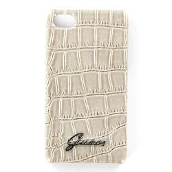 чехол для apple iphone 4s (guess gup4crbe hard case croco) (бежевый)