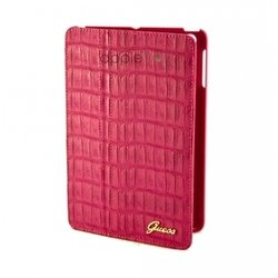 чехол для apple ipad mini (guess gufcmpcmp folio case croco) (розовый)