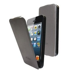 чехол для apple iphone 5 (lazarr flip case) (серый)