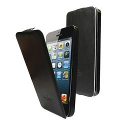 чехол для apple iphone 5 (lazarr flip case) (черный)