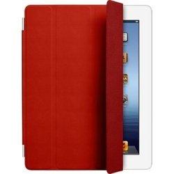 Чехол для iPad 2 / iPad 3 new / iPad 4 Smart Cover - Leather (MD304ZM/A) (кожаный, красный)