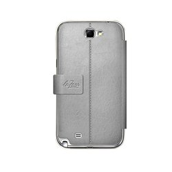 чехол для samsung galaxy note 2 n7100 (lazarr cover case) (серый)