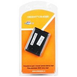 Картридер AII in 1, USB 2.0  (Orient MINI) (черный) (прорезиненный пластик)